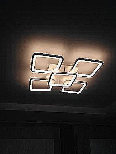 Сборка и монтаж светодиодной люстры на натяжной потолок.