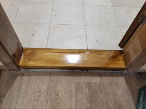 Реставрация деревянных пороговШлифовка, лакировка